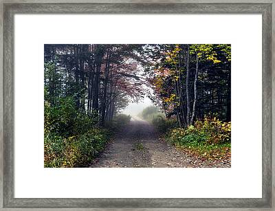 Foggy Morning - Stowe Vermont Framed Print