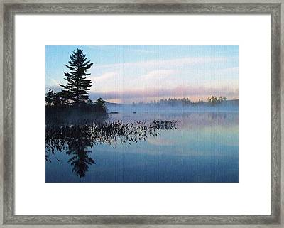 Foggy Morning's Chill -- On Parker Pond Framed Print