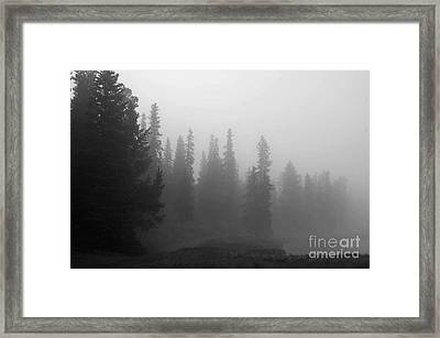 Foggy Mt Evans Framed Print