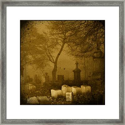Foggy Necropolis Framed Print by Gothicrow Images