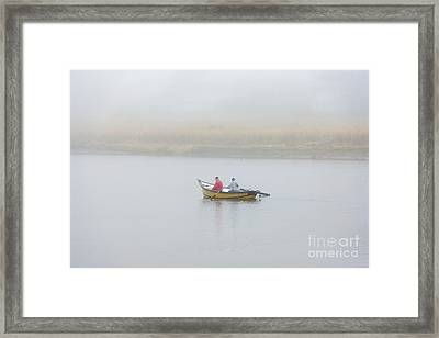 Foggy Nestucca Framed Print by Mike  Dawson