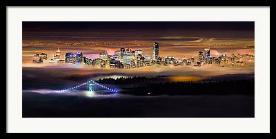 Lions Gate Bridge Framed Prints