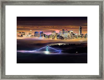 Foggy Night Crop Framed Print