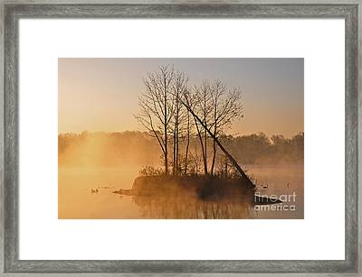 Foggy Ohio Morning Framed Print
