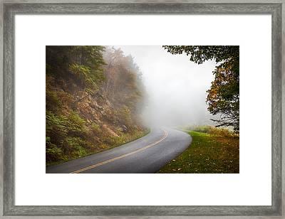 Foggy Parkway Framed Print