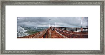 Framed Print featuring the digital art Foggy Pier  by Michael Thomas