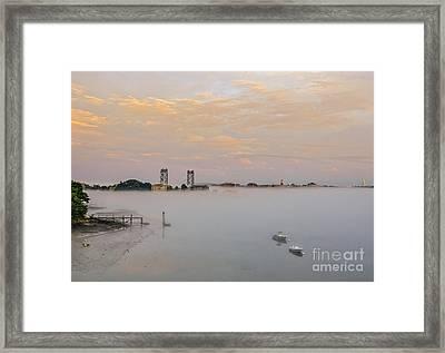 Foggy Portsmouth Framed Print by Scott Thorp