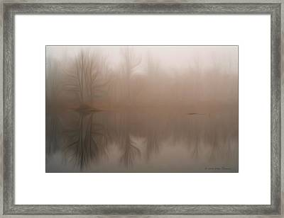 Foggy Reflection Framed Print