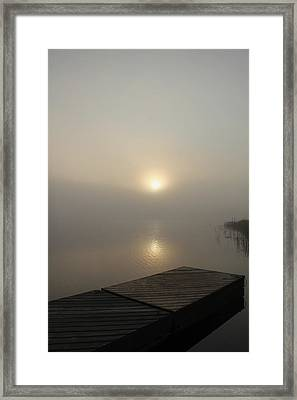 Foggy Reflections Framed Print by Debbie Oppermann
