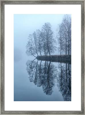 Foggy River Day Framed Print