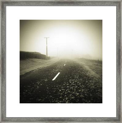 Foggy Road  Framed Print by Les Cunliffe