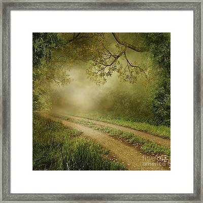 Foggy Road Photo Framed Print by Boon Mee