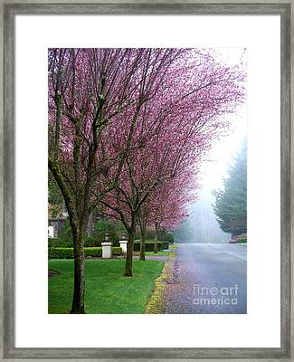 Foggy Road Framed Print by Tanya  Searcy