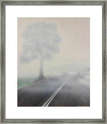 Foggy Road Framed Print by Tim Mullaney