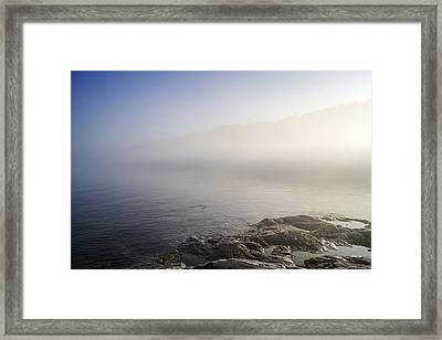 Framed Print featuring the photograph Foggy Seashore by Arkady Kunysz