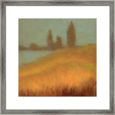 Foggy Skyline From Felixs Framed Print by Vernon Reinike