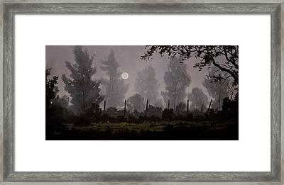 Foggy Start Framed Print by Douglas  Johnpeer
