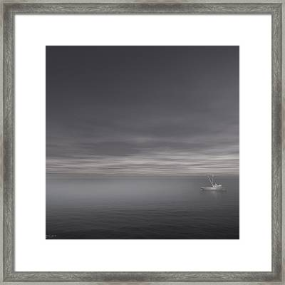 Foggy Stillness Framed Print by Lourry Legarde