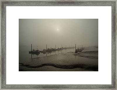 Foggy Sunset On River Medway Framed Print by Dawn OConnor
