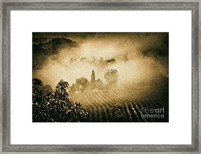 Foggy Tuscany Framed Print