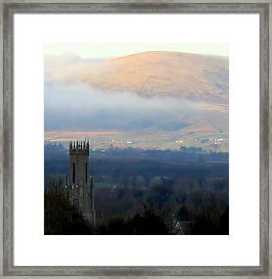 Foggy Wicklow  Mountains.  Framed Print by Joseph Doyle