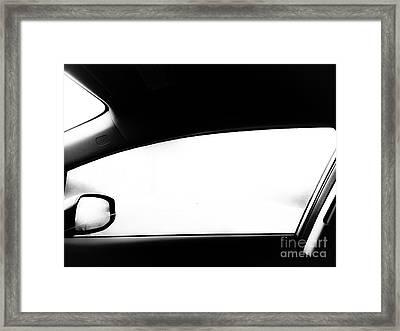 Foggy Window Framed Print