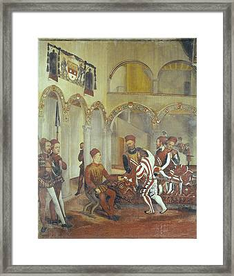 Fogolino, Marcello 1483-1553. Italy Framed Print by Everett