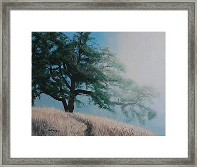 Fog's Morning Kiss Framed Print