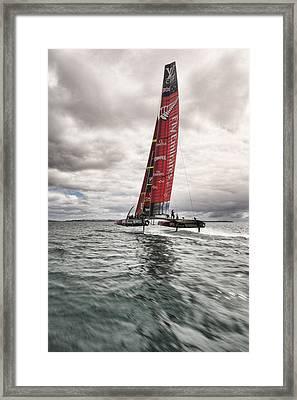 Foiling 2 Framed Print by Chris Cameron