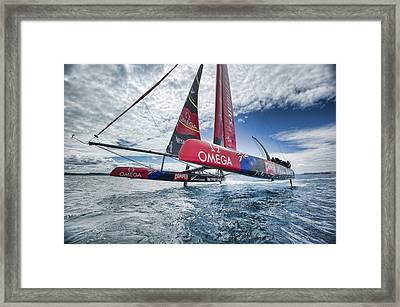 Foiling 4 Framed Print by Chris Cameron