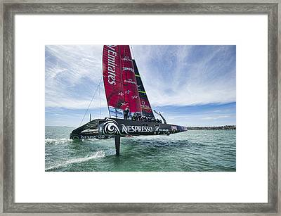 Foiling One Framed Print by Chris Cameron