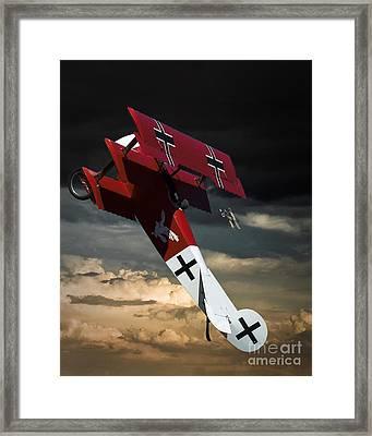Foker Dr1 Triplane Framed Print by Arne Hansen