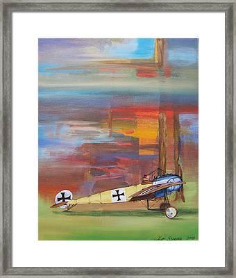Fokker Ready Framed Print