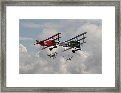 Fokker Squadron - Contact Framed Print