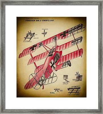 Fokker Triplane Framed Print
