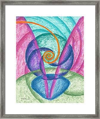 Fold Upon Fold Mandala Framed Print
