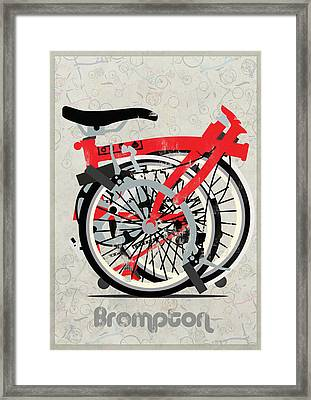 Folded Brompton Bike Framed Print by Andy Scullion