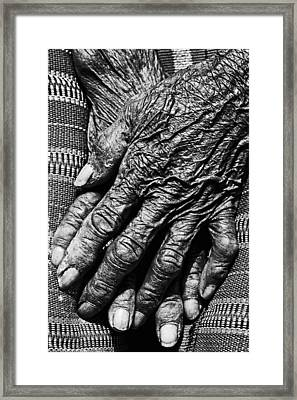 Folded Hands 2 Framed Print by Skip Nall