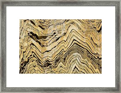 Folded Metamorphic Rock In Kings Canyon Framed Print
