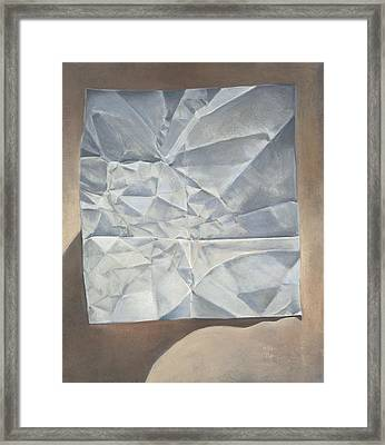 Folded Paper Framed Print