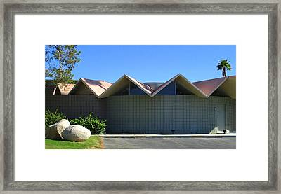 Folded Plate Roof In The Round Framed Print by Randall Weidner