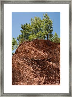 Folded Rock Strata Framed Print by David Parker/science Photo Library