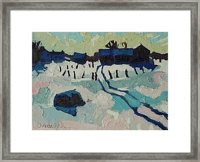 Foley Farm In Winter Framed Print