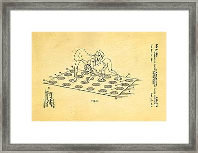 Foley Twister 2 Patent Art 1969 Framed Print by Ian Monk
