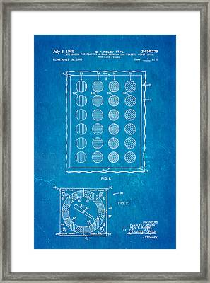 Foley Twister Patent Art 1969 Blueprint Framed Print by Ian Monk