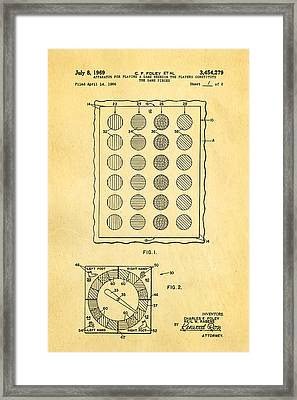 Foley Twister Patent Art 1969 Framed Print by Ian Monk