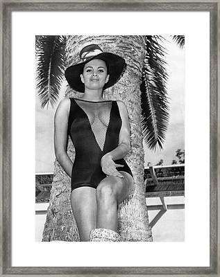 Folies Bergere Showgirl Framed Print