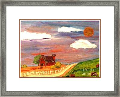 Framed Print featuring the painting Folk Art by Bobbee Rickard