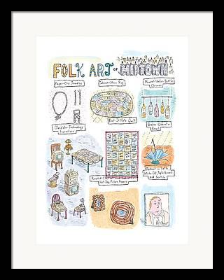 Midtown Drawings Framed Prints