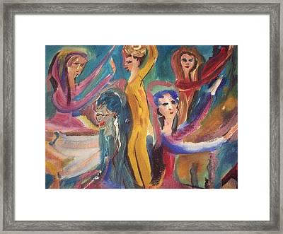 Folk Dance Framed Print by Judith Desrosiers
